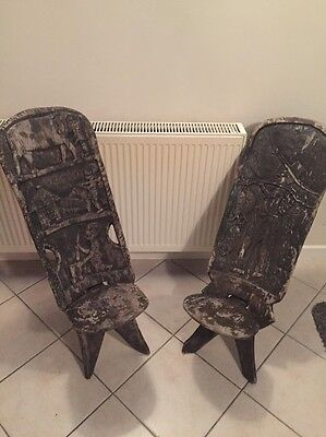 Two African Birthing Chairs