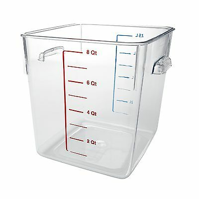 Rubbermaid Commercial Carb-X Space Saving Square Food Storage Container 8-Qua...