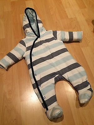 Striped All In One/snow Suit 0-3 Months
