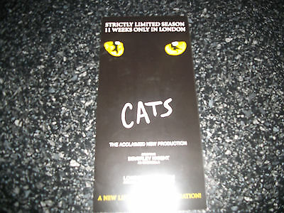 **Cats The Musical Flyer at London Palladium Great Condition**