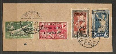Lebanon Liban - French colonies - Olympics USED set on paper  LOT (LEB- 01D)