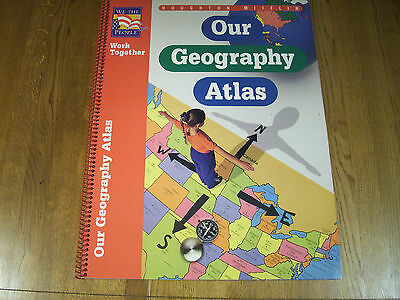 "Our Geography Atlas Work Together Houghton Mifflin 17"" x 22"" BigBookD"