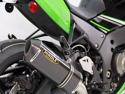 2016 Kawasaki ZX10R Hindle Full Exhaust Carbon Fiber Can with Headers