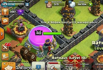 Mega Clash of Clans Account QUEEN LVL40 Th10 original ONMYWAYBACKHOME Android