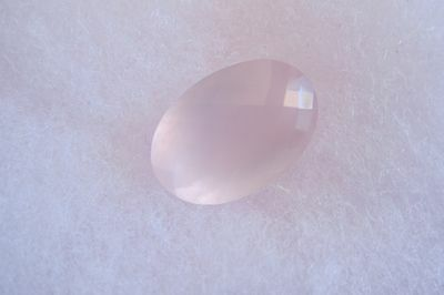 29.34CT Natural South Africa Rose Quartz Oval *Checkerboard Cut*