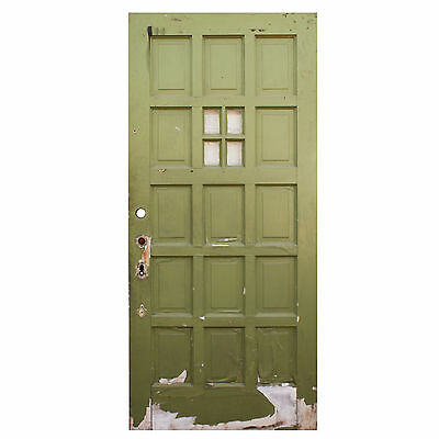 "Salvaged 36"" Multi Panel Door with Window, NED617"