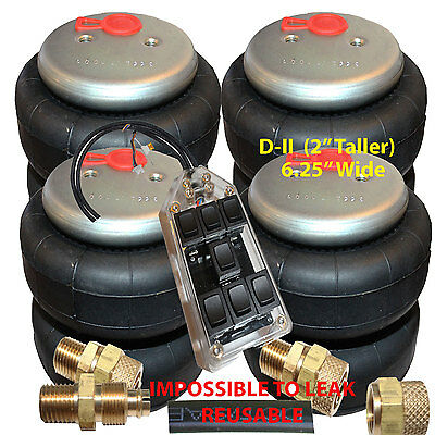"""Air Ride Bags Springs 4 D-II 2500 1/2""""npt >1/2 """"airline 7-Switch Controller"""