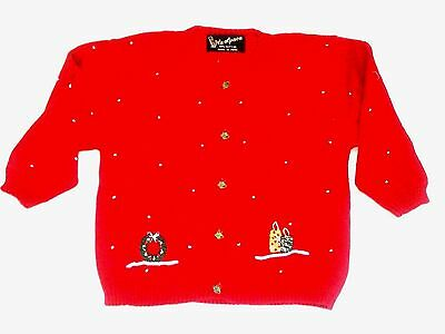 New Holiday Sweater Red Cotton Size 5-6