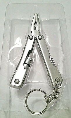 Totes Multi Function Pocket Tool with Attached Flashlight & Keychain-New-Silver