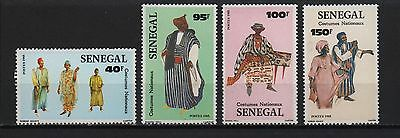 Senegal 1985 Folk Costumes Costumes Nationaux Traditional Clothes Sc# 664 667