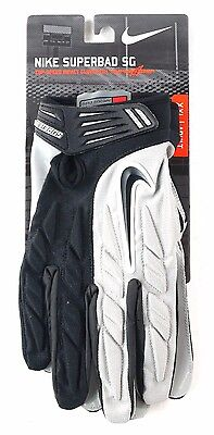 Nike Football Adult Superbad SG Top Speed Impact Super Grip Glove Black Grey XXL