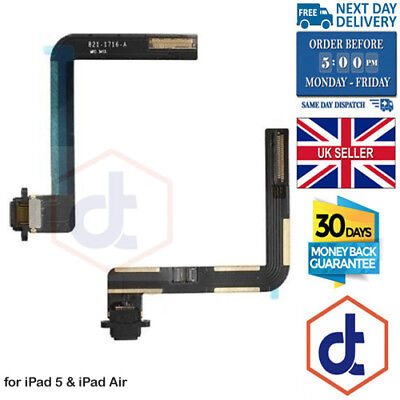 Charging Charger Port Flex Cable Replacement Parts for iPad 5 / iPad Air Black