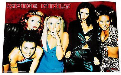 "Spice Girls Music Poster 5 Posed In Red 1997 23""x35"" Scary,Baby,Posh,Ginger Orig"