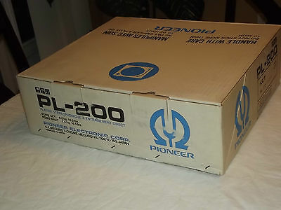 Pioneer PL-200 Vintage  N.O.S Turntable with box manual and cartridge