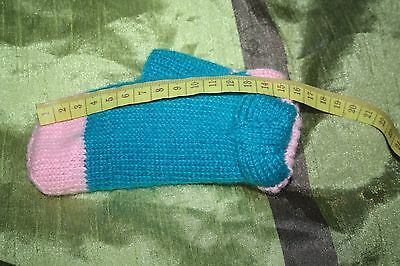 girls hand knitted wool socks size 7