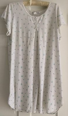 Maternity Nursing Short Sleeve Nightgown Floral Size Large