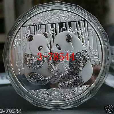 1kg silver china coin 1000g silver 99.99% panda silver COINS Free shipping-02