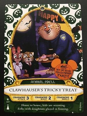 Disney Sorcerers Of Magic Kingdom Card 2016 Clawhauser's Tricky Treat