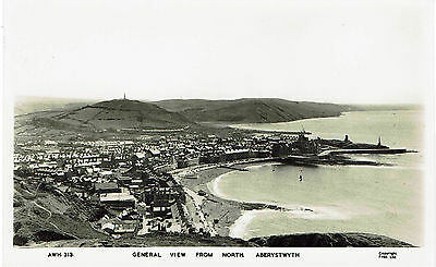 Real Photographic postcard - General View from the North, ABERYSTWYTH - unused