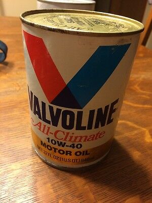 Vintage Valvoline All Climate 10w-40 Motor Oil Full Can