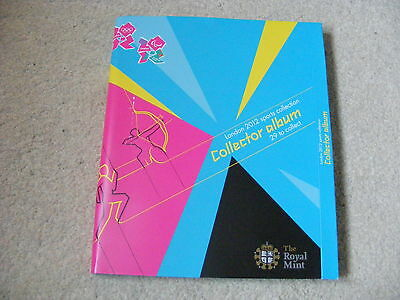2012 London Olympics 50p Fifty Pence Coin Collection Album 29 Coins No Completer