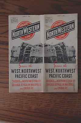 Chicago And Northwestern Line World War Ii Timetable June 11, 1944