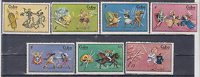 Caribe 1969 Fencing World Championship In Havana Shields Horse Sword Sc#1436-42