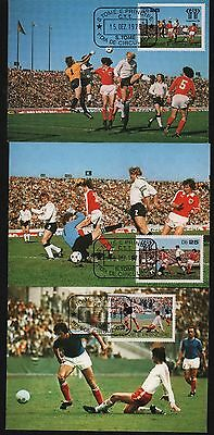 Sto Tome E Principe 1978 Postal Stationary (3) Soccer World Cup Germany Osterich