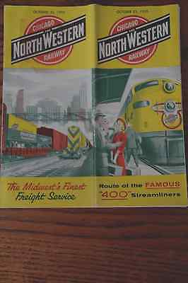 Chicago And Northwestern Railway October 25, 1958 Timetable