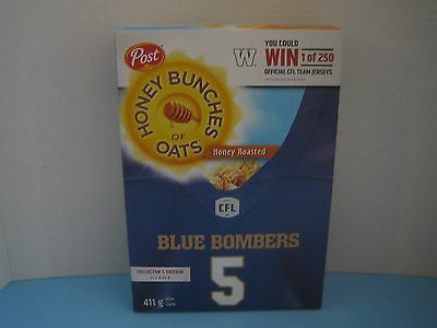Cfl Winnipeg Blue Bombers Post Honey Bunches Of Oats Cereal Box