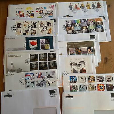 10 Sets of Various First Day Covers.  Mint Condition - Freepost
