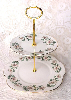 Christmas Rose Two Tier Cake Stand
