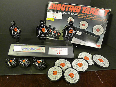 Automatic Resetting Shooting Target for BB Guns With Extra Target Set