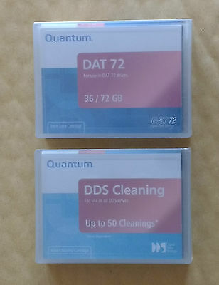 QUANTUM DAT72 (DDS5) tape + FREE Cleaning tape, Sealed