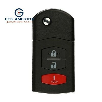New Replacement Filp Keyless Entry Remote Key Transponder For Mazda