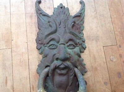 Giant Solid Iron Demon Door Knocker