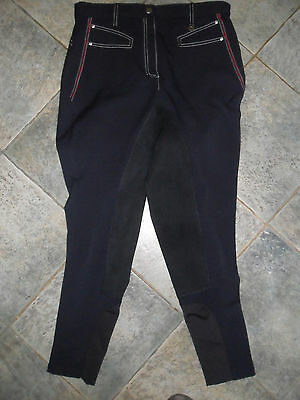 Requisite Navy Blue Full Seat Breeches 14  New