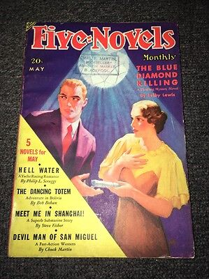 U.S.A. Pulp Magazine - FIVE NOVELS MONTHLY May 1936