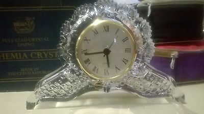 RRP $299 New Beautiful and Unique Bohemia Crystal Clock still in origanal box