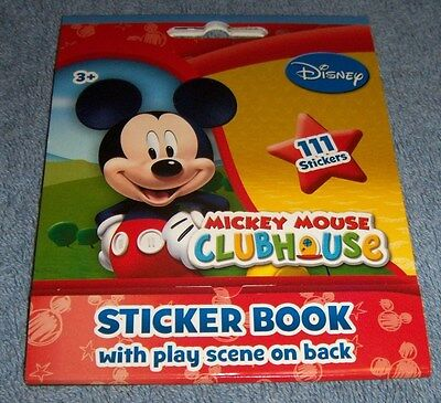 Disney Mickey Mouse Sticker Book 111 Stickers New FREE SHIP