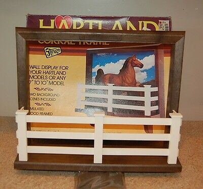 Vintage 1980's HARTLAND Model Horse Corral Frame In Original Box