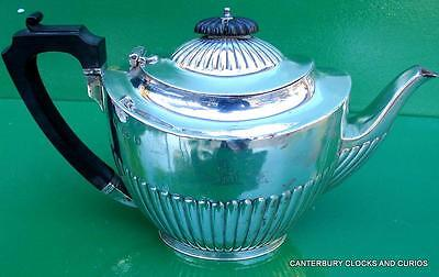 Antique English Fully Hallmarked Solid Sterling Silver Teapot