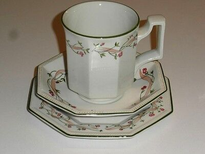 Johnson Brother's Eternal Beau Trio. Coffee Mug, Side Plate And Saucer. Vgc