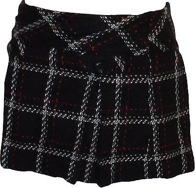 USED Girls Hartstrings Black Patterned Wooly Skirt Size 6 Years (P.L)