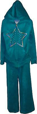 USED Girls Circo Velour Two Piece Set Mint Green Size 6-8 Years (P.L)