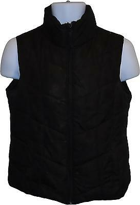 USED Ladies Store 21 Gillet Black Coat Size 8 (E.K)