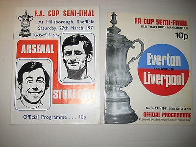 FA CUP Semi Finals - Both 1971 Programmes + George Armstrong Autograph!!!!
