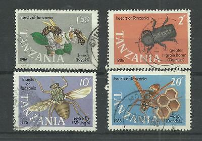 TANZANIA 1987  Insects   fine used set