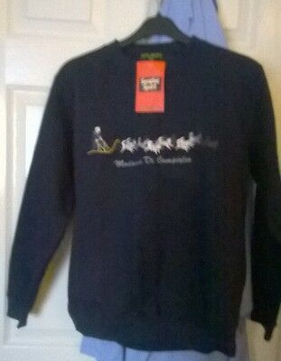 Childs Embroidered Dog Sledge Sweat Shirt Madonna di Campiglio