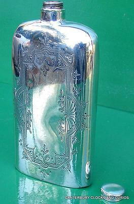 Antique English Walker & Hall Sheffield Silver Plate Bottle Flask